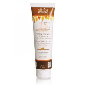Crema fluida solare SPF 15 protezione media