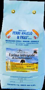 Farina integrale di farro dell'Appennino Bolognese - 25 kg